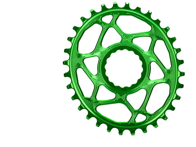absoluteBLACK Plato Ovalado Spiderless Boost148 para Race Face Cinch, froggy green